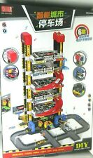 KIDS 6 Level Chines MULTI STORY GARAGE CAR PARKING  STATION TOY SET