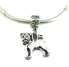 Pug silver Dog charm pendant for All Bracelets necklace/Pug Charms/Pug necklace