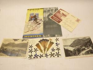 Olympiade 1936 Garmisch - Partenkirchen: Prospekt / Heft + Postkarten