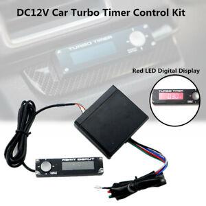 Universal Car Auto Turbo Timer Control Kit Red LED Digital Display Pen 12V Unit