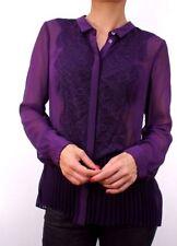 Maglie e camicie da donna aderente in seta, taglia 40