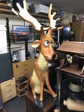 More details for huge christmas reindeer comic fibre glass resin model 107cm tall