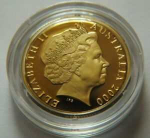 2000 AUSTRALIA PROOF 1 DOLLAR COIN FROM A BABY SET.