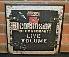 CORROSION OF CONFORMITY - Live Volume. Ltd Import 2LP CLEAR VINYL Gatefold New!
