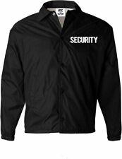 Men's Security Jacket Event Staff Windbreaker Front Back Silk Screen Print
