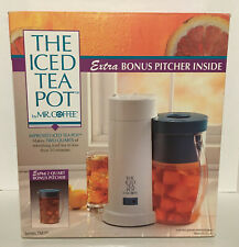 THE ICED TEA POT BY MR. COFFEE, INCLUDES BONUS PITCHER INSIDE, NEW