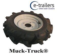 400x10 LEFT WHEEL & TYRE FOR MUCK TRUCK POWER-BARROWS- MOTORISED WHEEL BARROW