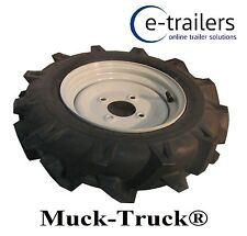 400x10 RIGHT WHEEL & TYRE FOR MUCK TRUCK POWER-BARROWS- MOTORISED WHEEL BARROW