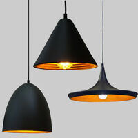 Vintage Pendant Ceiling Lighting Metal Black Lampshade Industrial Style Lamp Kit