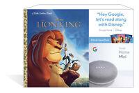 NEW Google Home Mini Smart Speaker Chalk + 3 Disney Little Golden Books Bundle