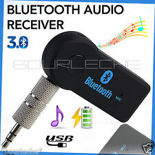 Wireless Bluetooth 3.5mm AUX Audio Stereo Music Home Car Receiver Adapter Mic 01