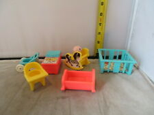 Lot of Vintage Fisher Price Little People Baby Furniture