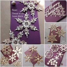Snowflakes die cut-out craft cards craft Christmas xmas toppers 1mm thick