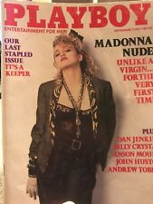Playboy September 1985 Madonna Nude Last Stapled Issue Complete Magazine