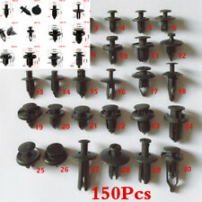 Universal 150pcs Black Plastic Car Fender Rivets Panel Clip Screw Fastener HOT