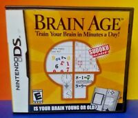 Brain Age - Nintendo DS DS Lite 3DS 2DS Game Complete + Tested