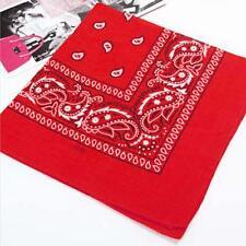 2017 Square Paisley Bandana Scarf Cotton Head Neck Wrap Hairband Kerchief Red BT
