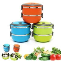 LUNCH BOX BENTO THERMOS HEATED FOOD CONTAINER PORTABLE COMPACT FOOD WARMER