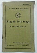 English Folk-Songs by Ralph Vaughan Williams undated English Folk Dance edition
