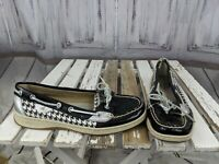 Sperry top-sider womens 7.5 slip loafers boats comfort shoes clogs work black