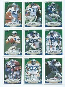 SEATTLE SEAHAWKS x 11 Fleer 1990 NFL American Football Trading Cards
