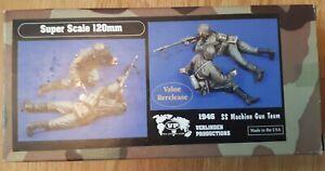 1/16, 120mm Verlinden SS Machine Gun Team