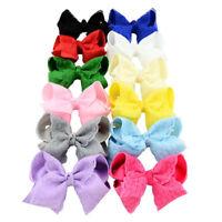 1 Piece Girls Kids Lace Bow Decor Alligator Pin Clip Boutique Hair Bow Headwear