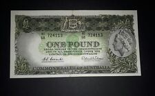 Commonwealth of Australia 1961 One Pound Coombs/Wilson Emerald  Green R.34b, EF