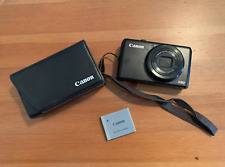 Canon PowerShot S90 10.0MP Digital Camera - Black with Hard Case and battery