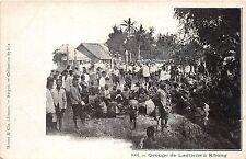 B86294 groupe de laotiens a khong child  lao laos indochina types folklore