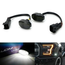 Smoke Lens 12-SMD White LED Bumper Fender Flare Sidemarker Lamps For Ford Raptor