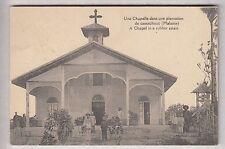 CPA MALAISIE ASIE -  RELIGION CHAPELLE DANS PLANTATION DE CAOUTCHOUC ANIME ~B43