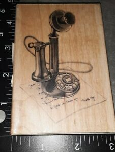 Vintage telephone, inkadinkado,282,rubber, wood