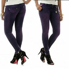 NWT Apple Bottoms colored Sexy Skinny ankle PURPLE slit leg Jean- 9 / 10