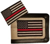 Red Line Flag Firefighters Support Wallet With Red Line Flag Patch