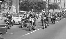 Hells Angels Sonny Barger Leads Funeral San Francisco Glossy 8.5x11 Photo HA-556