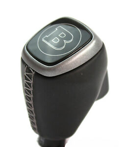 Smart Fortwo 453 W453 Lever Gear Knob Leather Brabus Silver