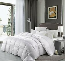 Luxury Goose Down Comforter Full Size 1200 TC Alternative White Bedding
