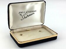 Sherman Jewelry Gift Box Vintage Jewels of Elegance Black Clamshell Case S319