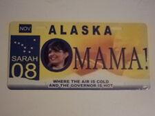 2008 Omama Sarah Palin Political License Plate Obama November Booster