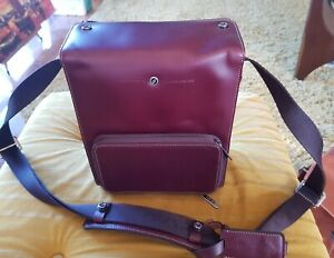 Gariz Small reddy brown leather camera bag for system camera