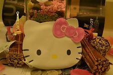New White Large Hello Kitty Kawaii Face Shape Coin Purse Wallet Bag