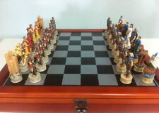 Veronese Figurine Chess Set Troy vs Sparta Statue Gift Home Decor 300 Greek