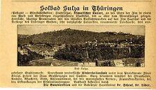 Dr.Schenk, Dr.Löber  SOLBAD SULZA Thüringen Historische Reklame von 1895