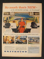 1956 GREYHOUND BUSES LOW COST LUXURY COACH BUS SCENICRUISER 10.5 x 14 LG Size AD