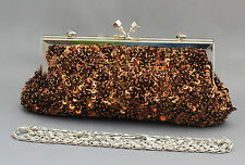 New beaded sequins evening handbag/purse/clutch Colour: Brown #4