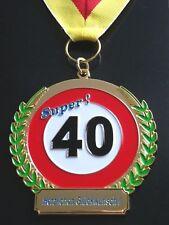 Orden zum 40 Geburtstag Medaille Abzeichen Auszeichnung Geschenk Happy Birthday