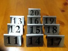 Stainless Steel Table Number Set 11-20