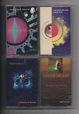TANGERINE DREAM  - Lot of 4 SEALED cassettes : Rockoon Tyranny Canyon Turn of