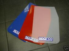 SPARCO RALLY STYLE UNIVERSAL MUD FLAPS WHITE ONE  PAIRS